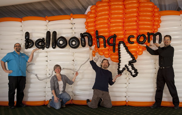 Life size BalloonHQ logo created by Brian Asman and  Paul Teal
